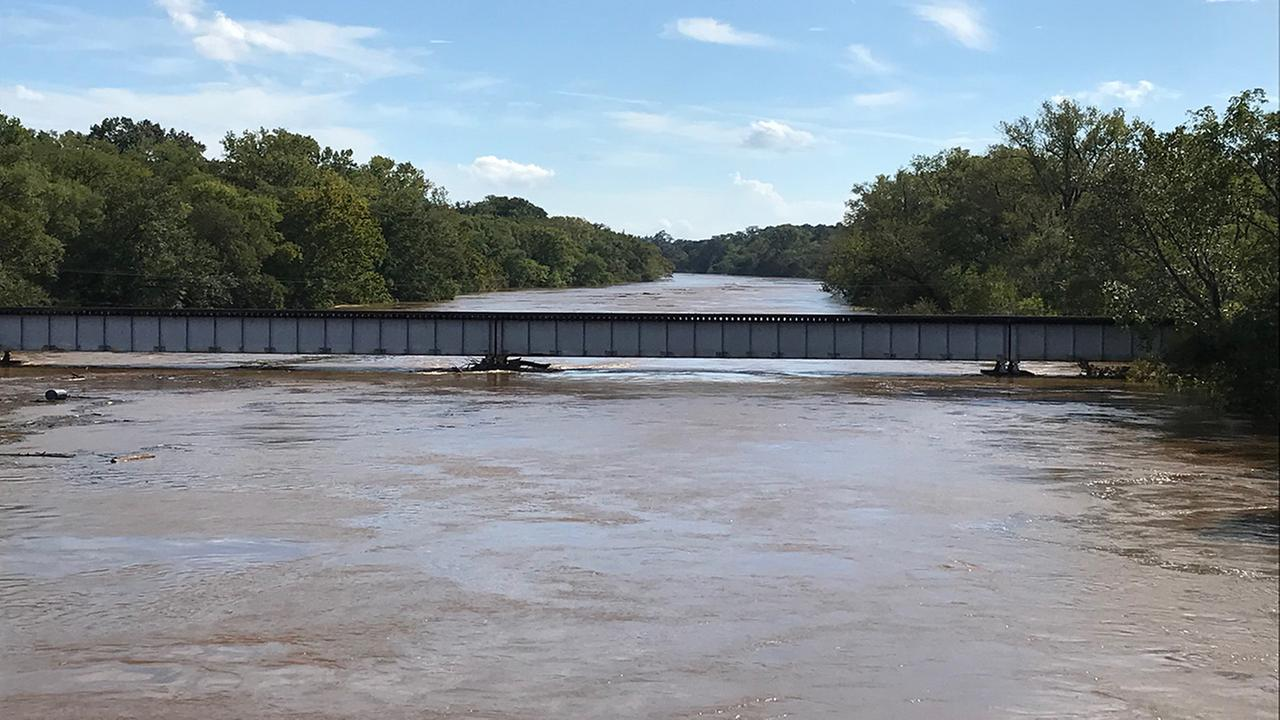 Flooding at Person Street Bridge