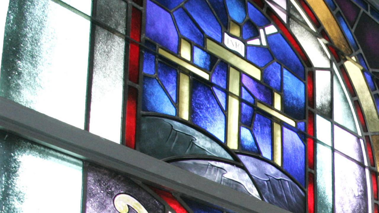 Church stained glass window generic