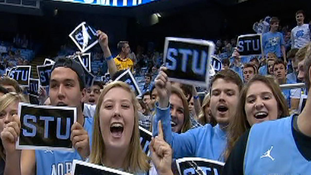STU signs at UNC game