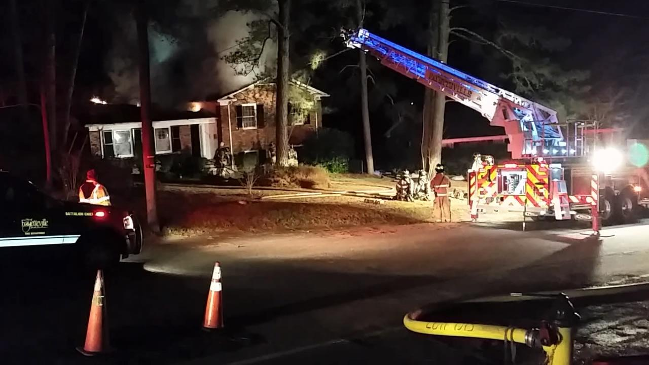 The fire was reported early Wednesday morning.