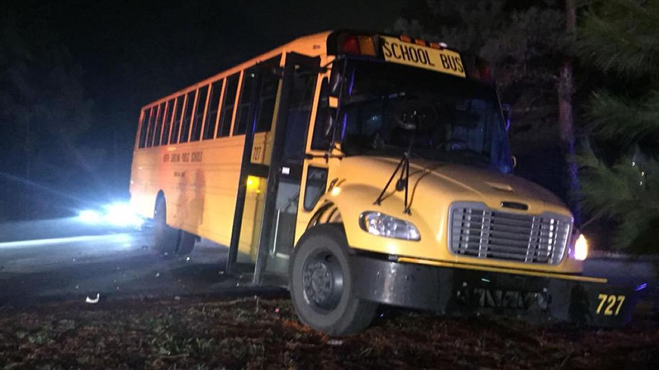 Fayetteville school bus hit-and-run