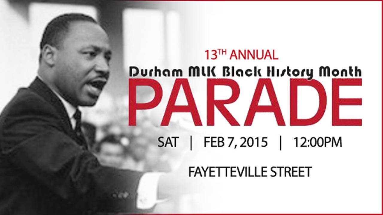 Durham MLK Black History Month Parade is Saturday February 7