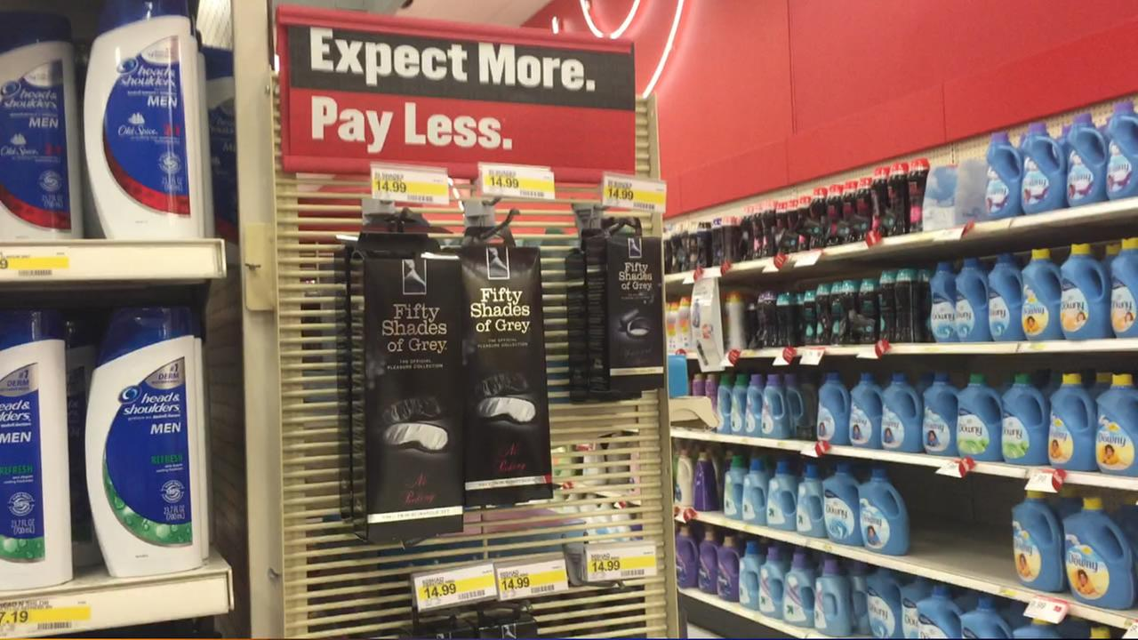 Fifty Shades of Grey items for sale at Target