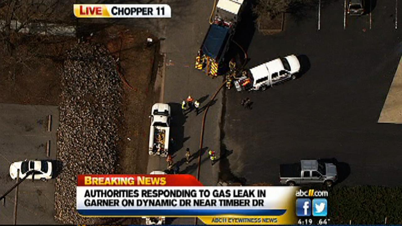 Gas leak closes Dynamic Drive in Garner