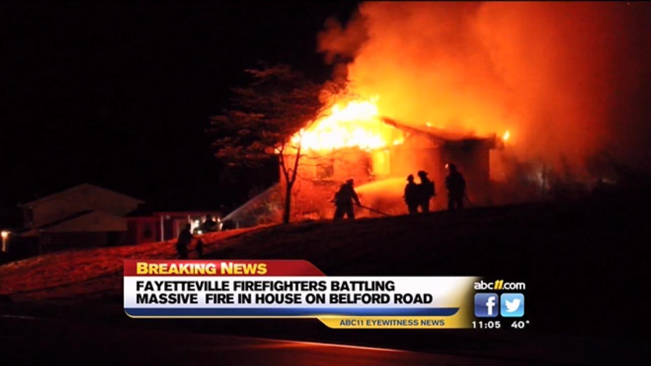 Fayetteville house fire
