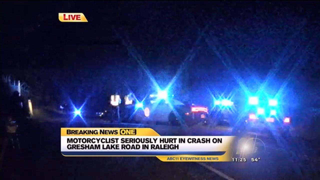 Motorcycle accident on I-540