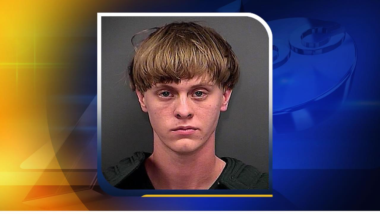 Dylann Storm Roof in a South Carolina booking photo after the shootings