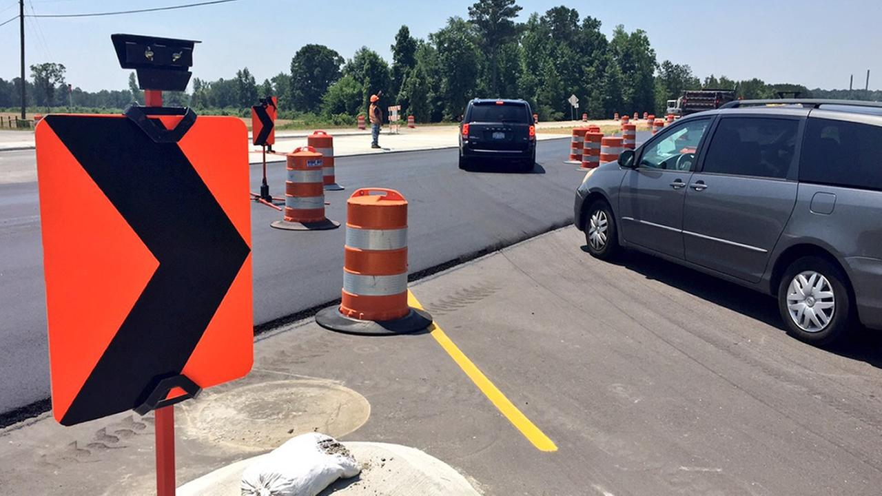 Rolesville Bypass construction zone
