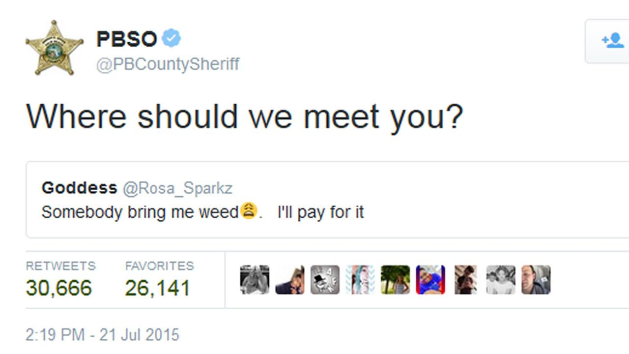 A tweet from the Palm Beach County Sheriffs Office.