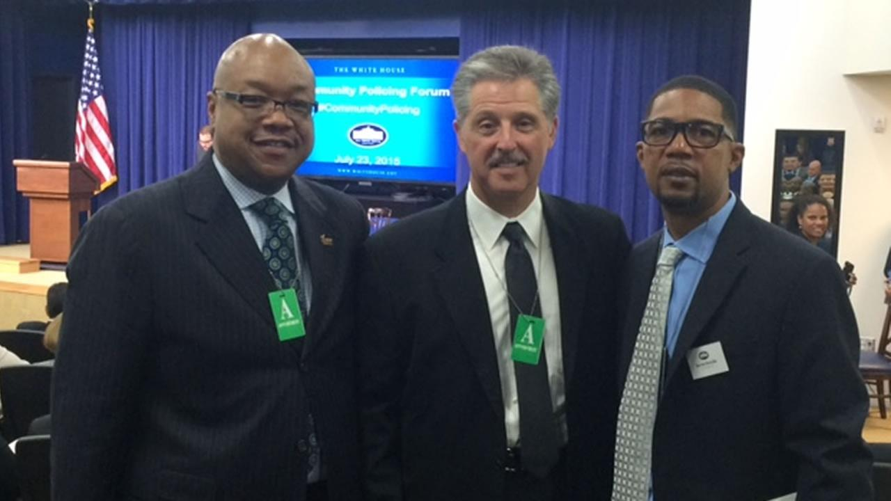 Fayetteville leaders at the White House.