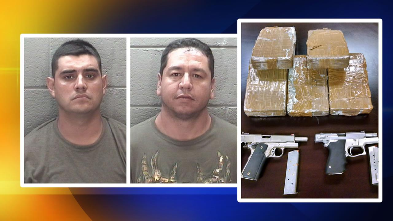 Two men arrested in Rocky Mount - allegedly with a large amount of cocaine and weapons - have yet to be identified.