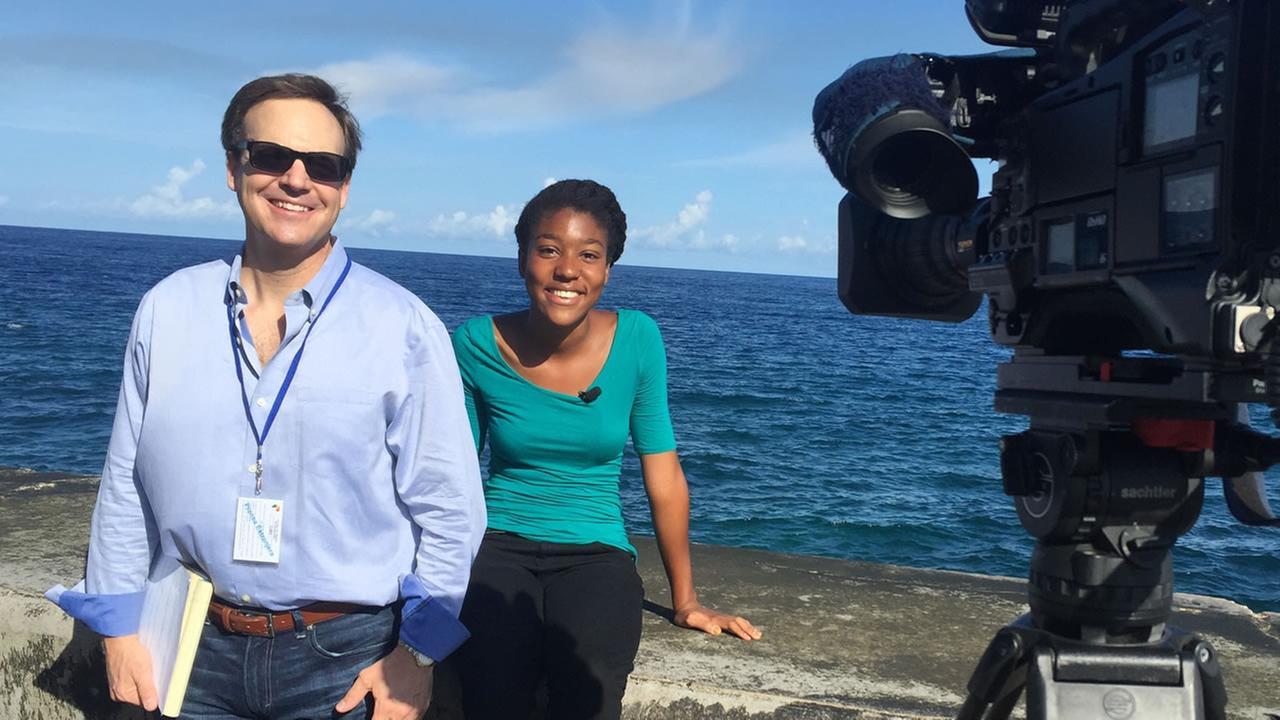 ABC11s Steve Daniels with Tanya Thomas