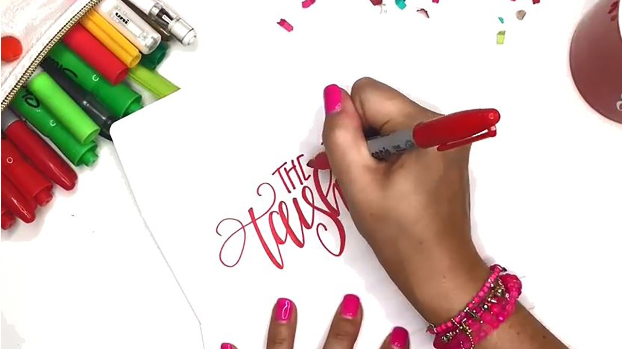 Want to spice up your holiday cards? Try hand lettering