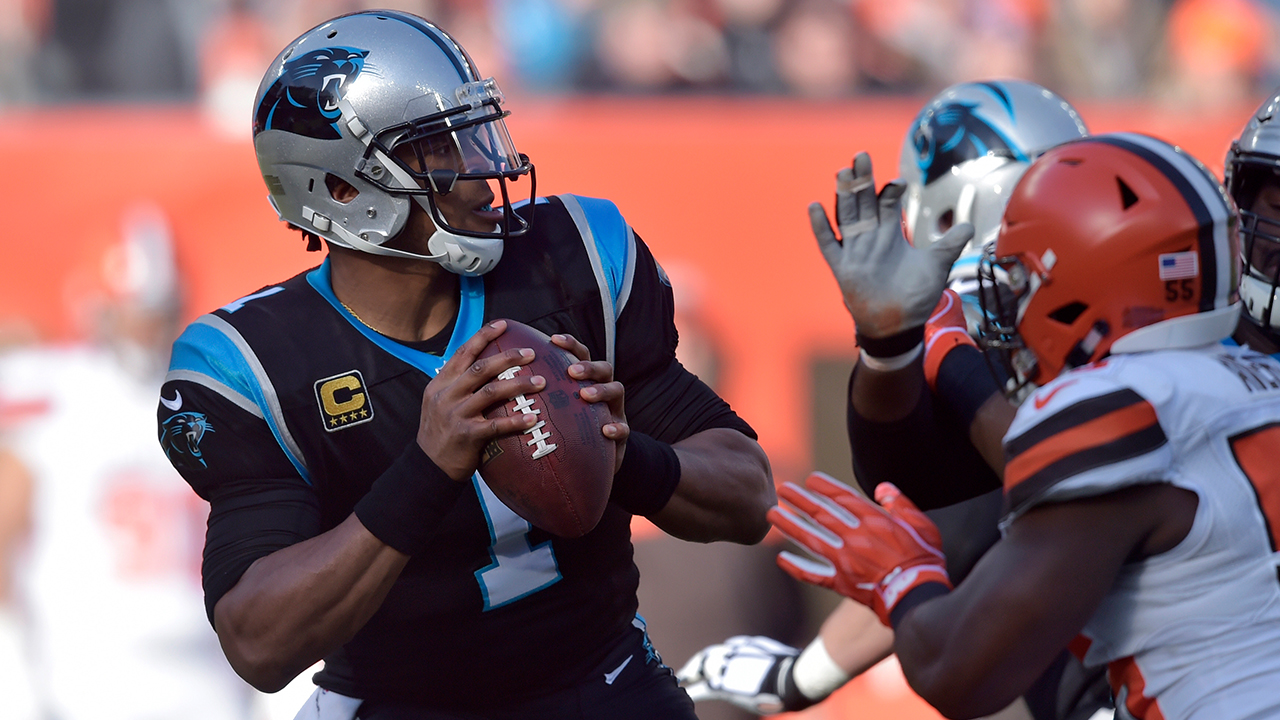 Cam Newton against the Browns (AP)