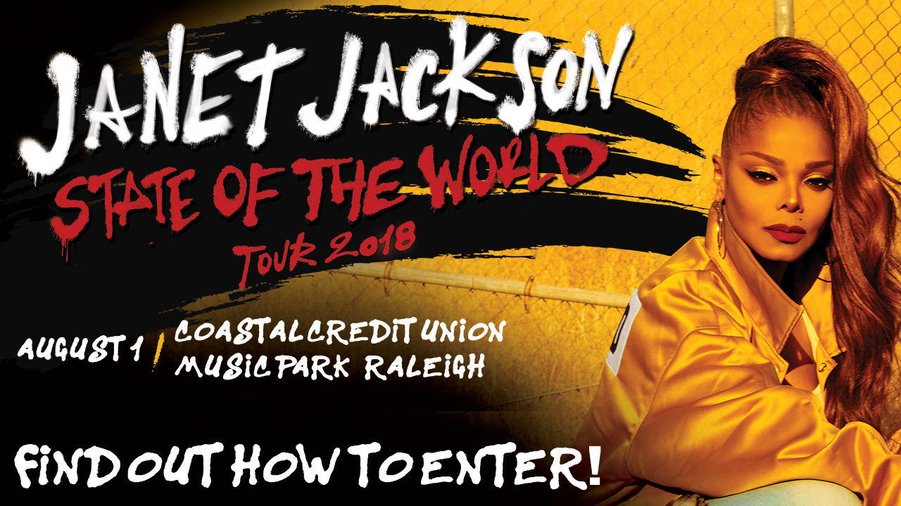 Find out how to enter for a VIP Experience to Janet Jackson: State of the World Tour Sweepstakes
