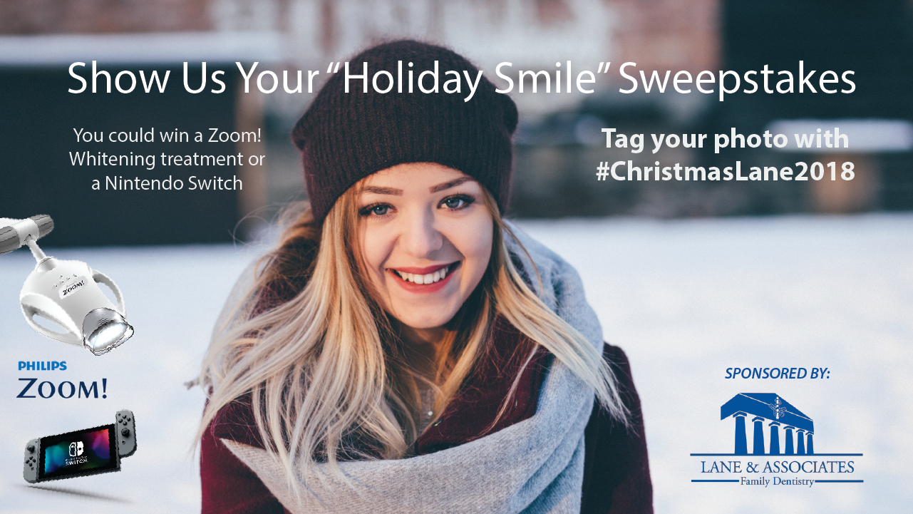 "Show us your ""holiday smile"" sweepstakes 2018"