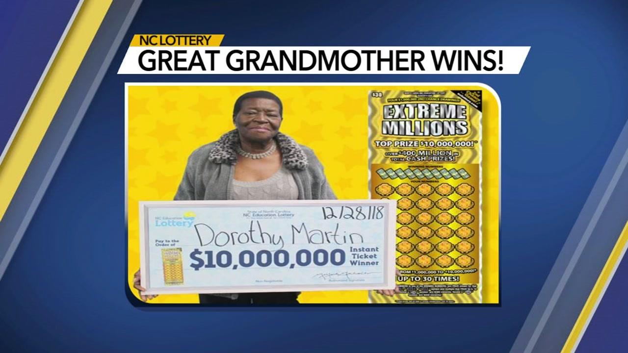 Great grandmother wins $10 million.