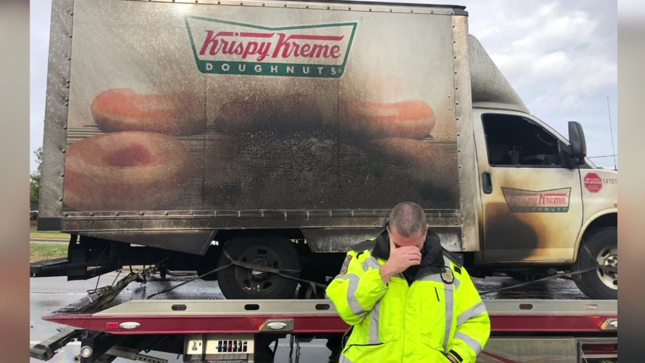 Officers in Lexington, Kentucky, became internet famous this week after posting pictures of themselves crying in front of a burned truck.