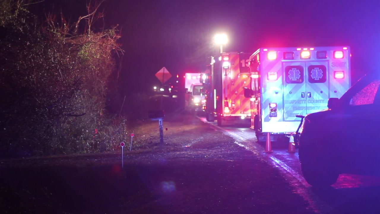 One person is dead after a crash in Harnett County on Friday morning, according to first responders at the crash.