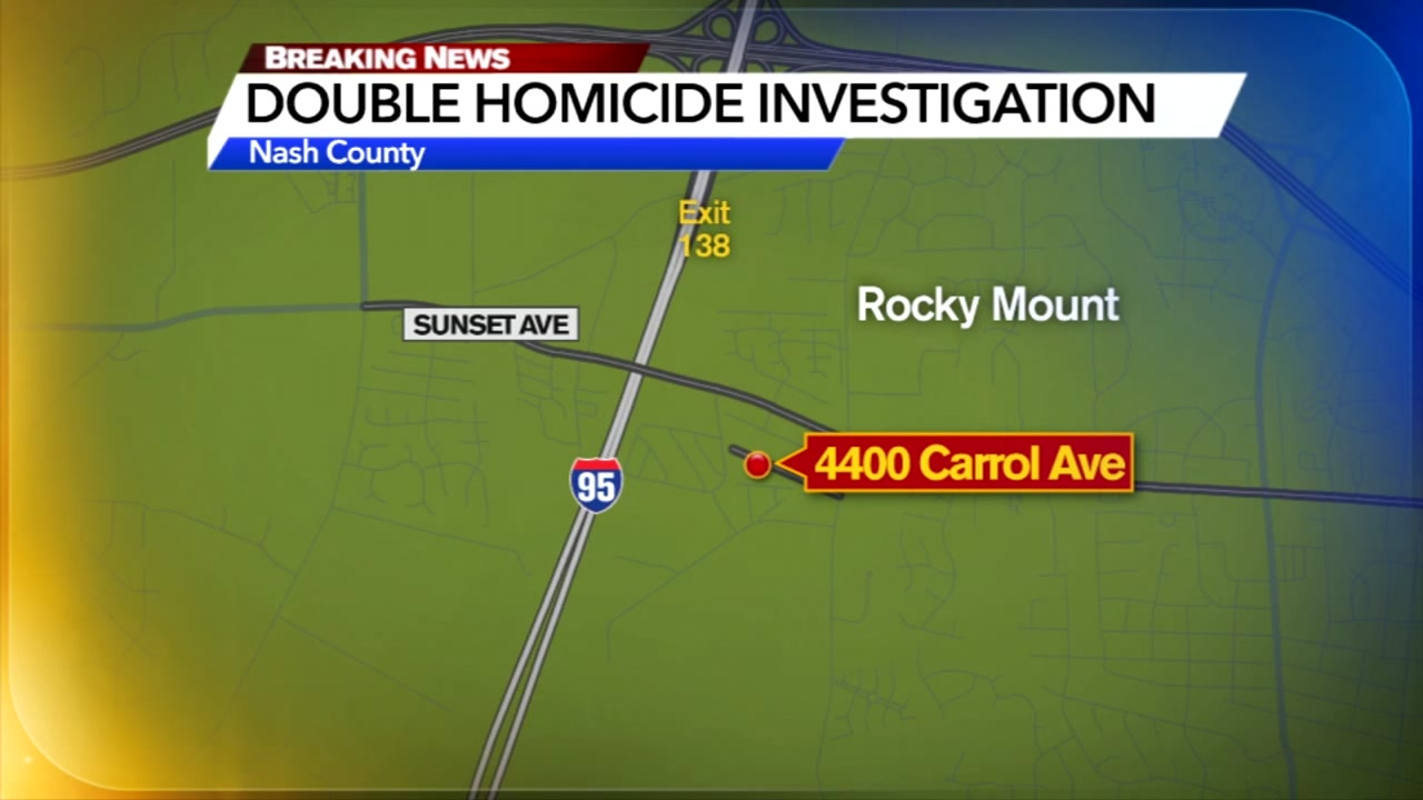 Police are searching for the person responsible for shooting and killing two men in Rocky Mount on Saturday night.