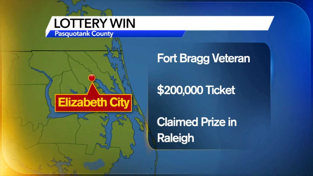 Fort Bragg veteran wins big lottery prize of $200,000.