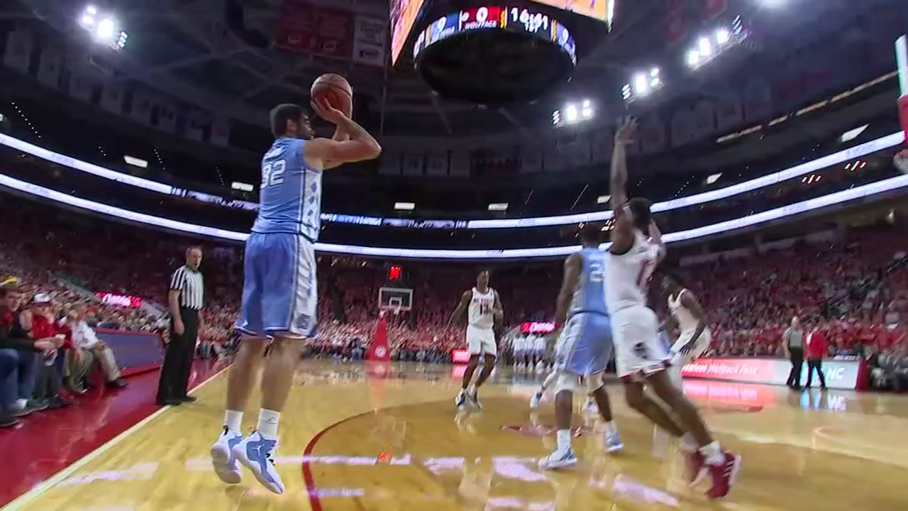 Luke Maye had 21 points to help the Tar Heels win a sixth-straight game in Raleigh.