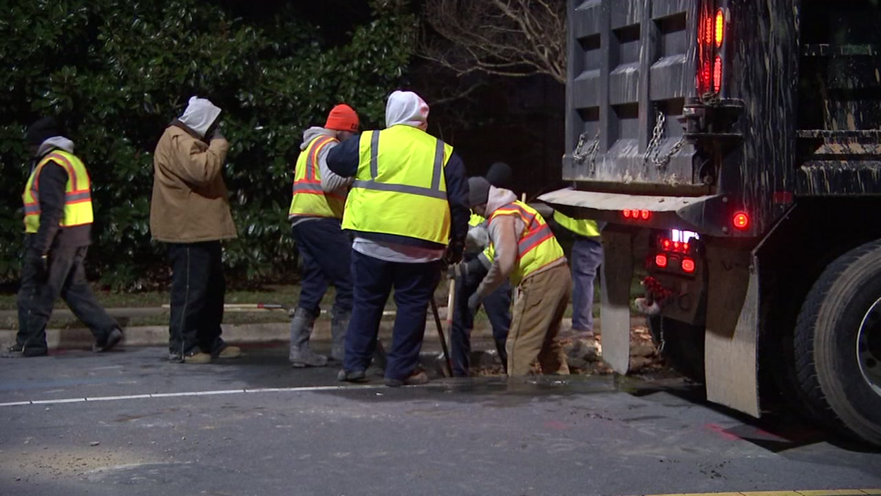 The Town of Cary is investigating after they say five water main breaks occurred Thursday night.