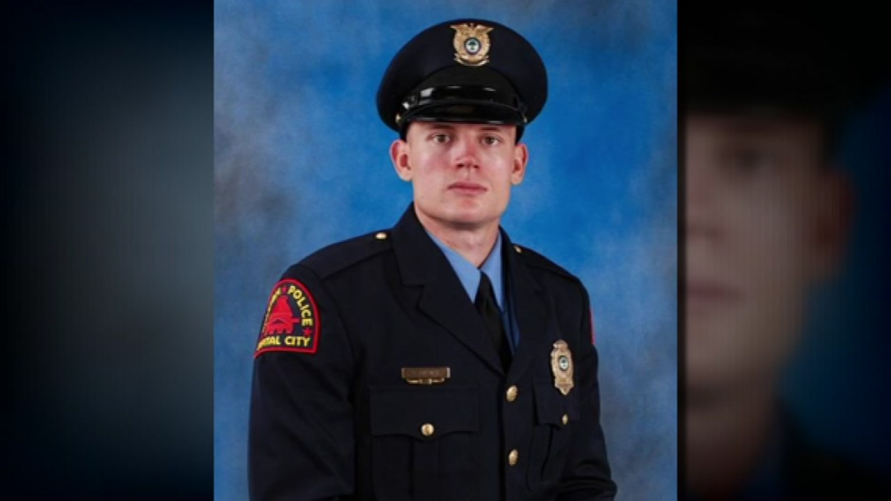 Officer Charles Ainsworth was shot multiple times Wednesday evening.