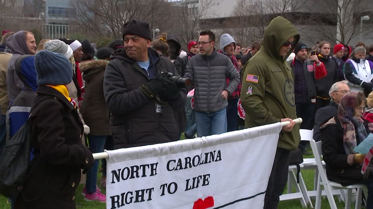 Competing rallies held in Raleigh over abortion rights