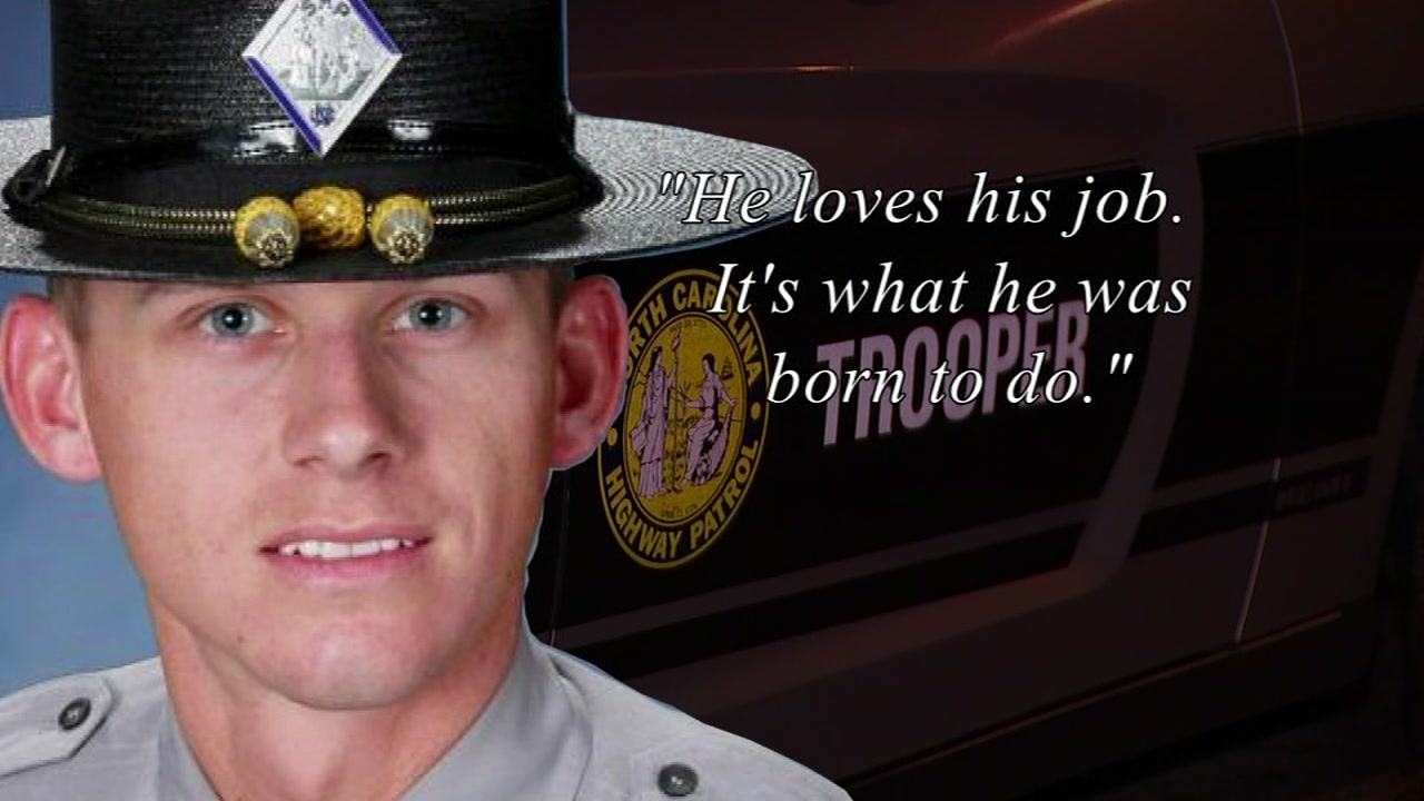 Trooper Daniel Harrell is recovering at a hospital in Greenville.