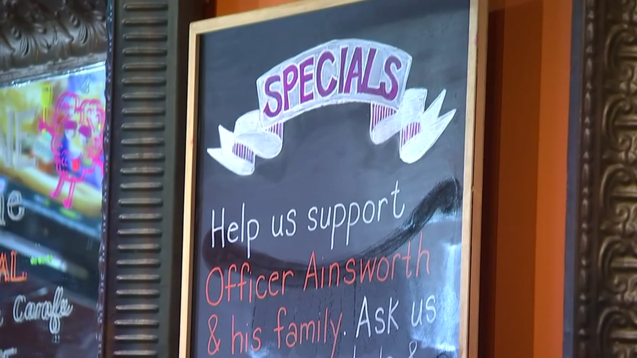 Raleigh businesses are helping raise money for injured police officer Charles Ainsworth.