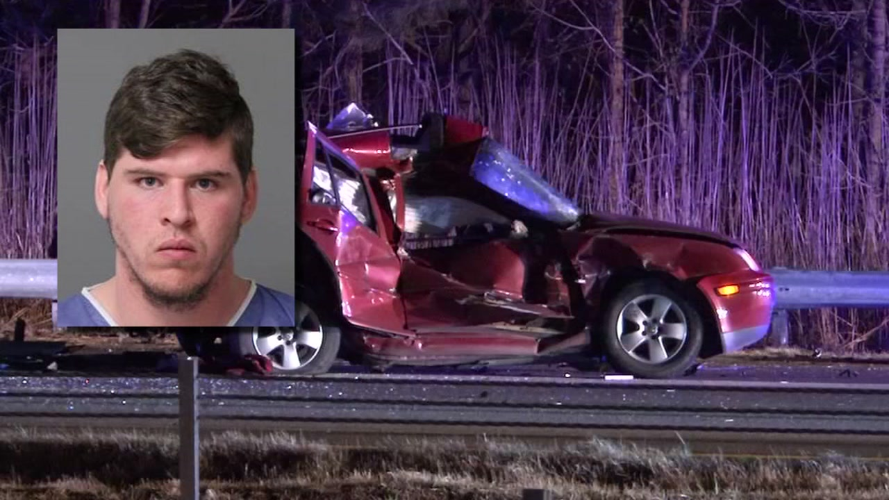 A man has been charged in connection with a crash that sent two people to the hospital.