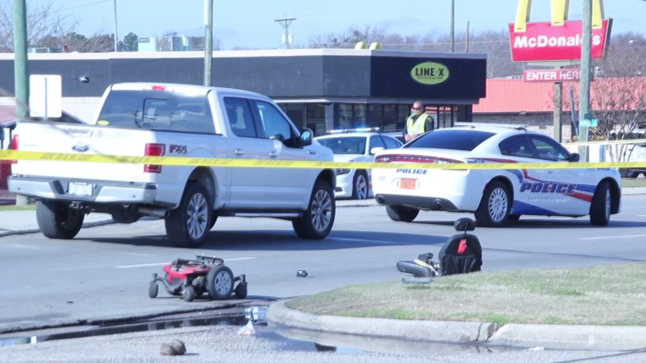 Person in motorized wheelchair fatally stuck in Fayetteville.