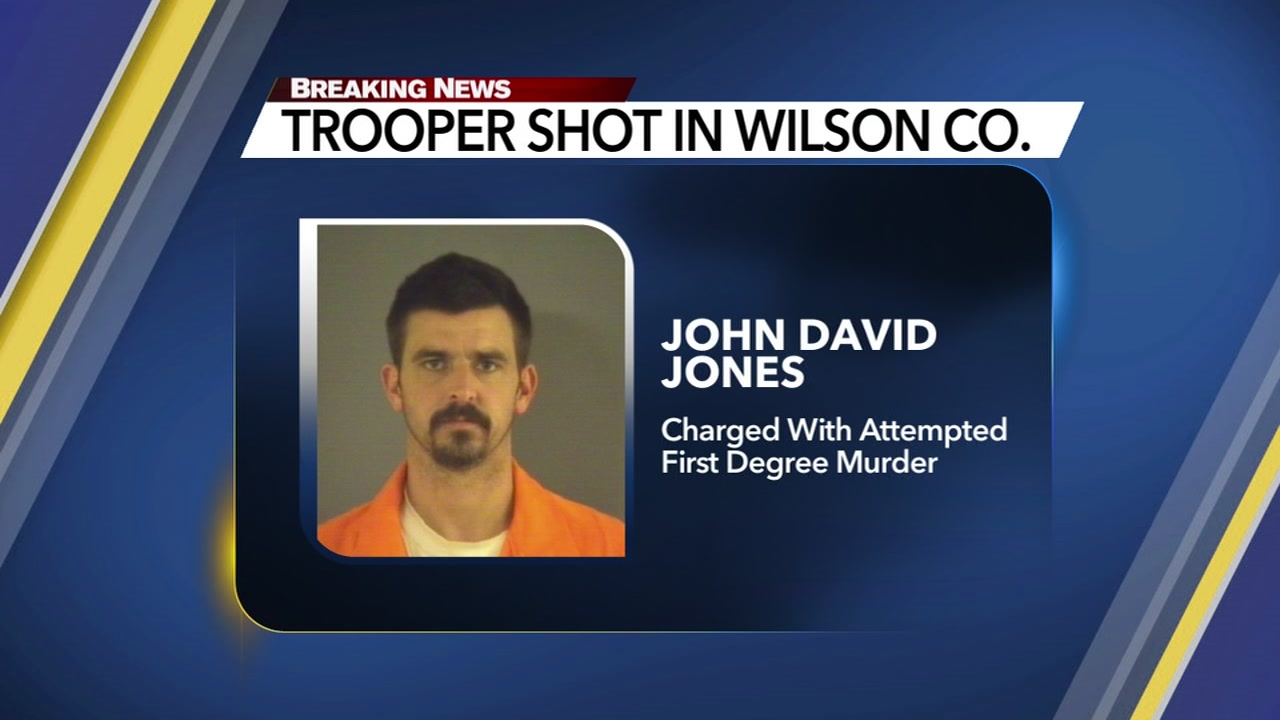 John David Jones now faces an attempted first-degree murder charge in the death of trooper Daniel Harrell.
