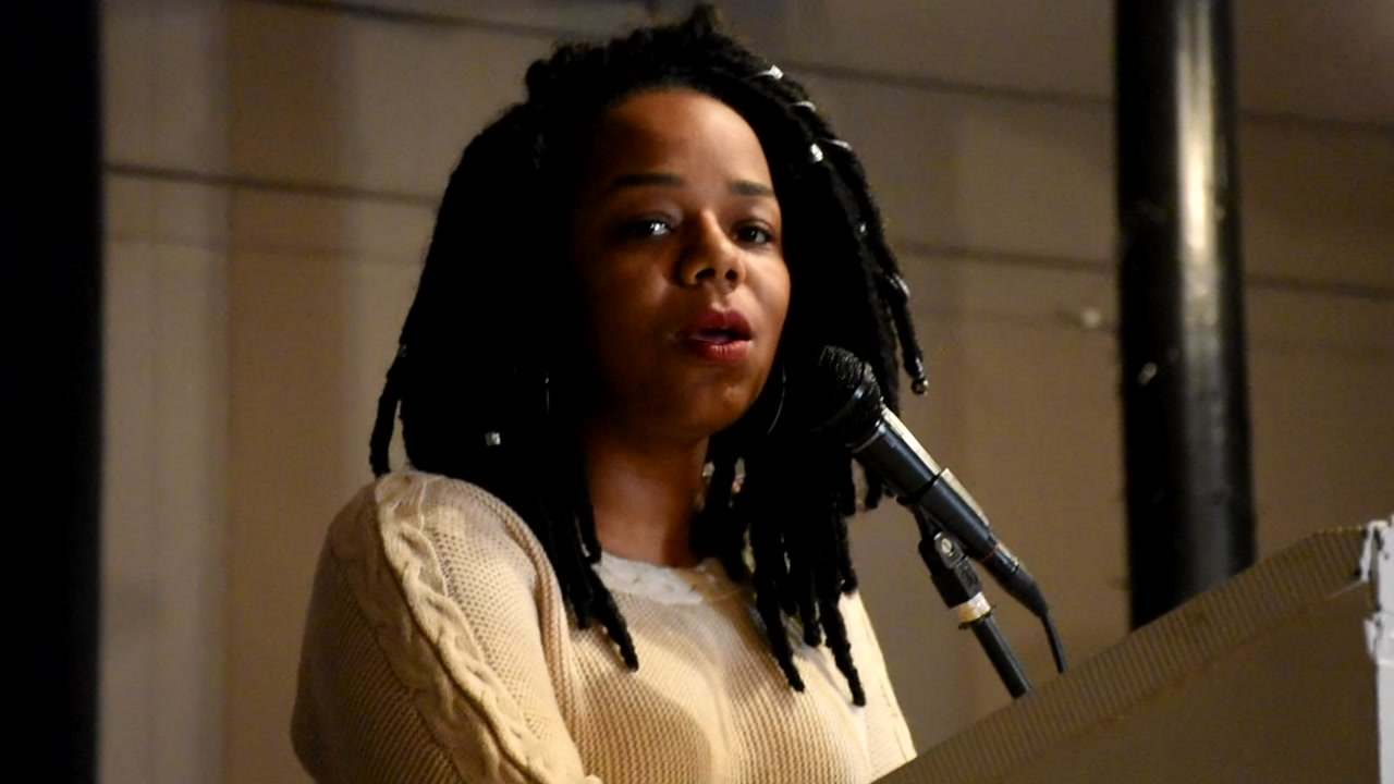 Poet and author Chenae Erkerd speaks at breakfast in honor of Dr. Martin Luther King, Jr.