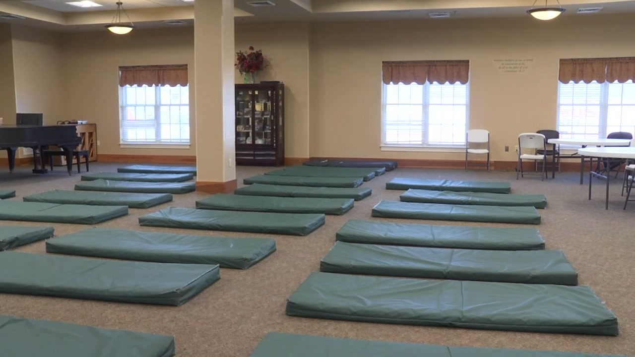 About 450 men and women have been staying at the Durham Resuce Mission while cold weather sweeps through.