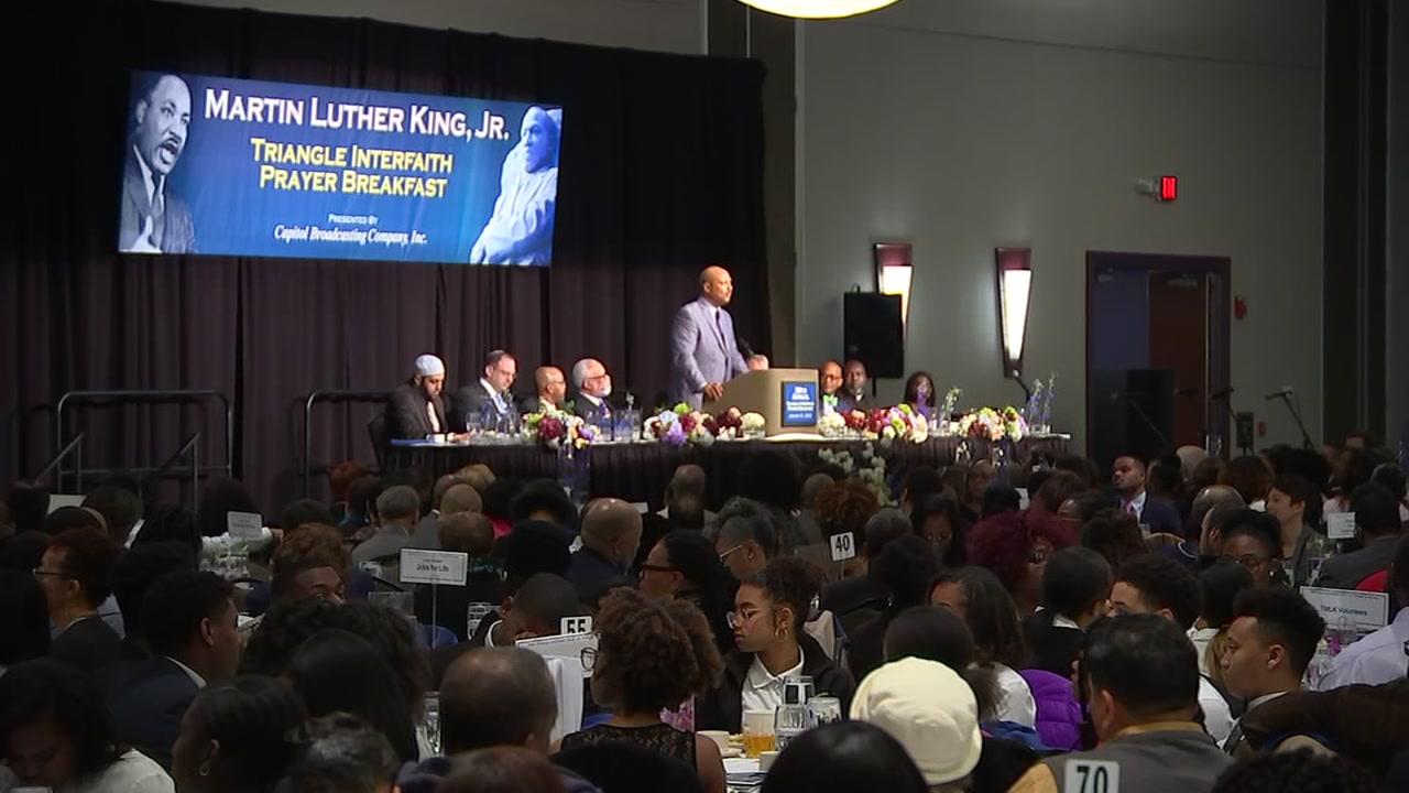 MLK prayer breakfast held in Durham to honor slain civil rights leader.