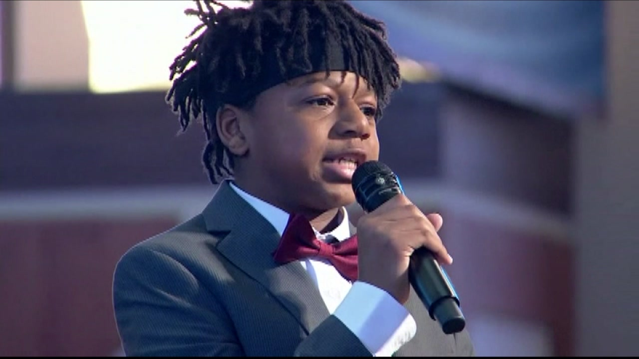 Young NC rapper performs at MLK event in Atlanta.