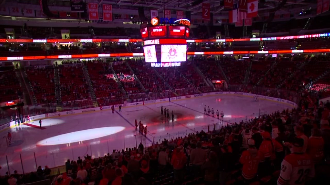 The Carolina Hurricanes are looking for a musical act to perform at their March 1 game against the St. Louis Blues.