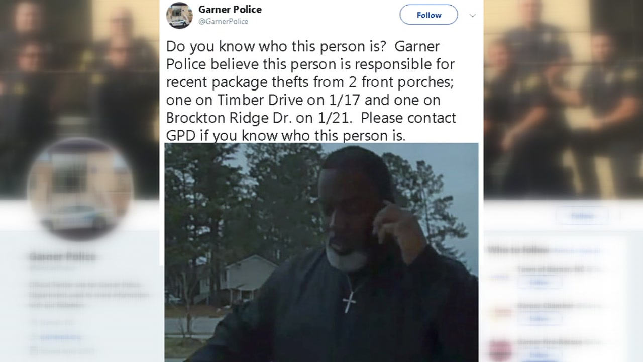 Garner police are in need of the publics help in tracking down a porch pirate.