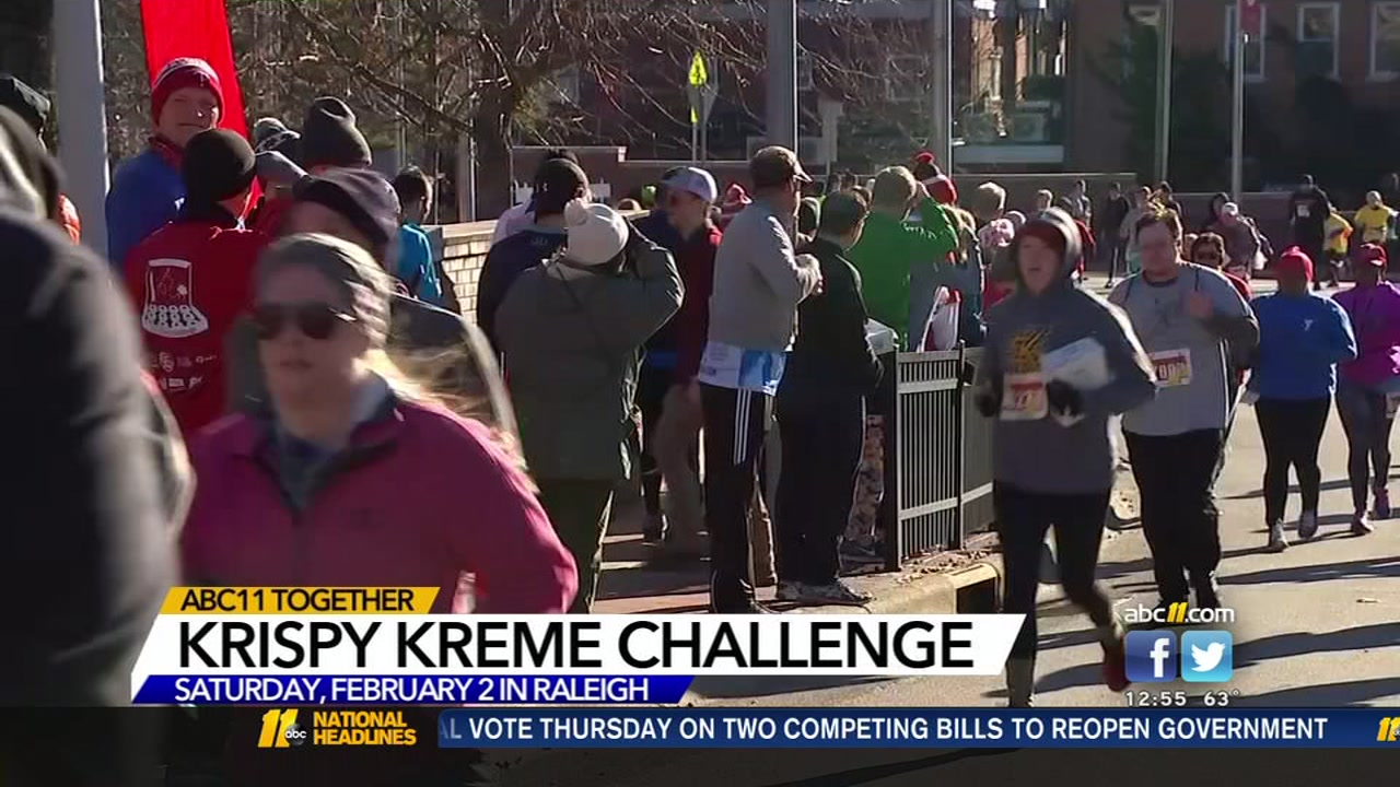 The annual Krispy Kreme Challenge is taking place on Saturday, Feb. 2 in Raleigh.