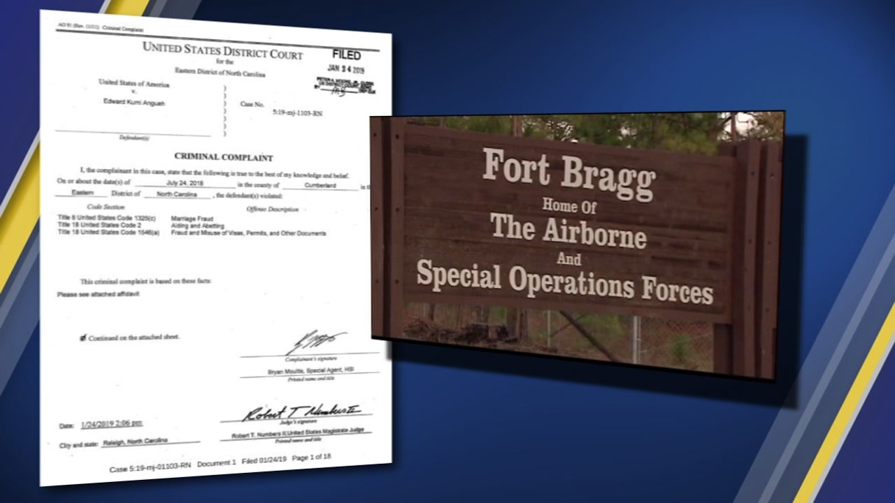 Fort Bragg soldiers are being accused of arranging fake marriages.
