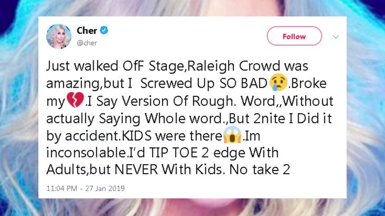 A music icon apologized minutes after walking off stage in Raleigh.