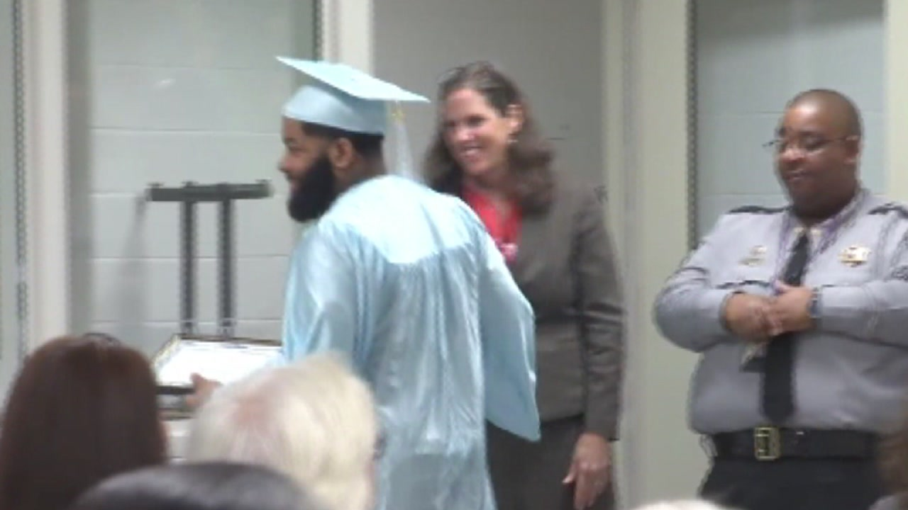 Five inmates graduated Wednesday from a new high school equivalency program.
