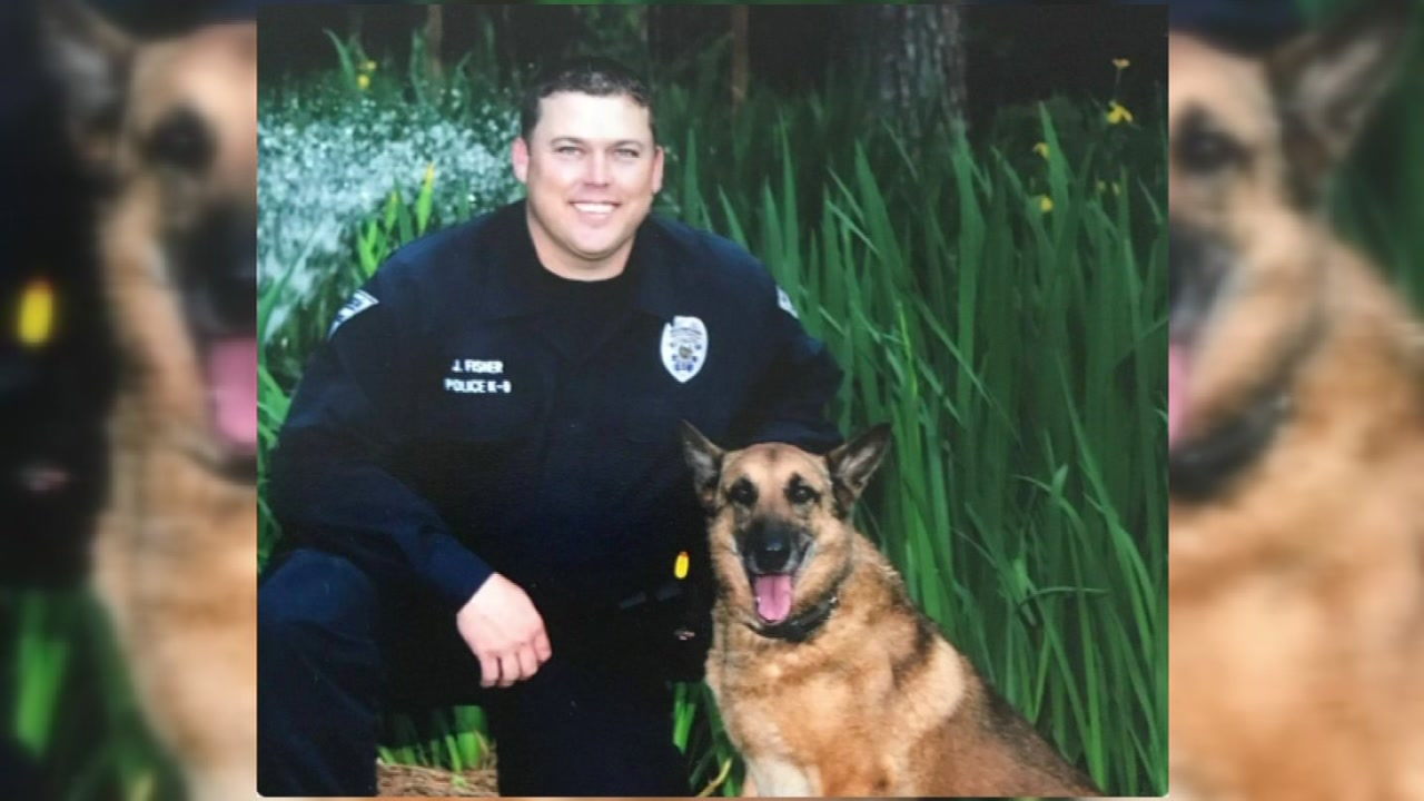 Thursday was a sad day for the Fayetteville Police Department, as officers said goodbye to a former K-9 officer.