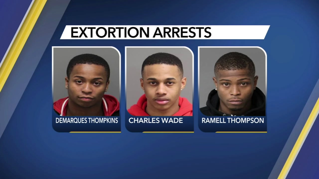 Three arrested in extortion scheme.