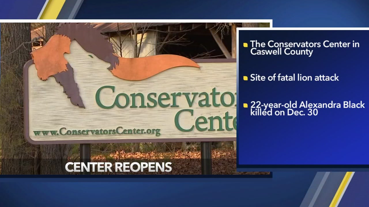 Conservators Center reopens one month after fatal lion attack