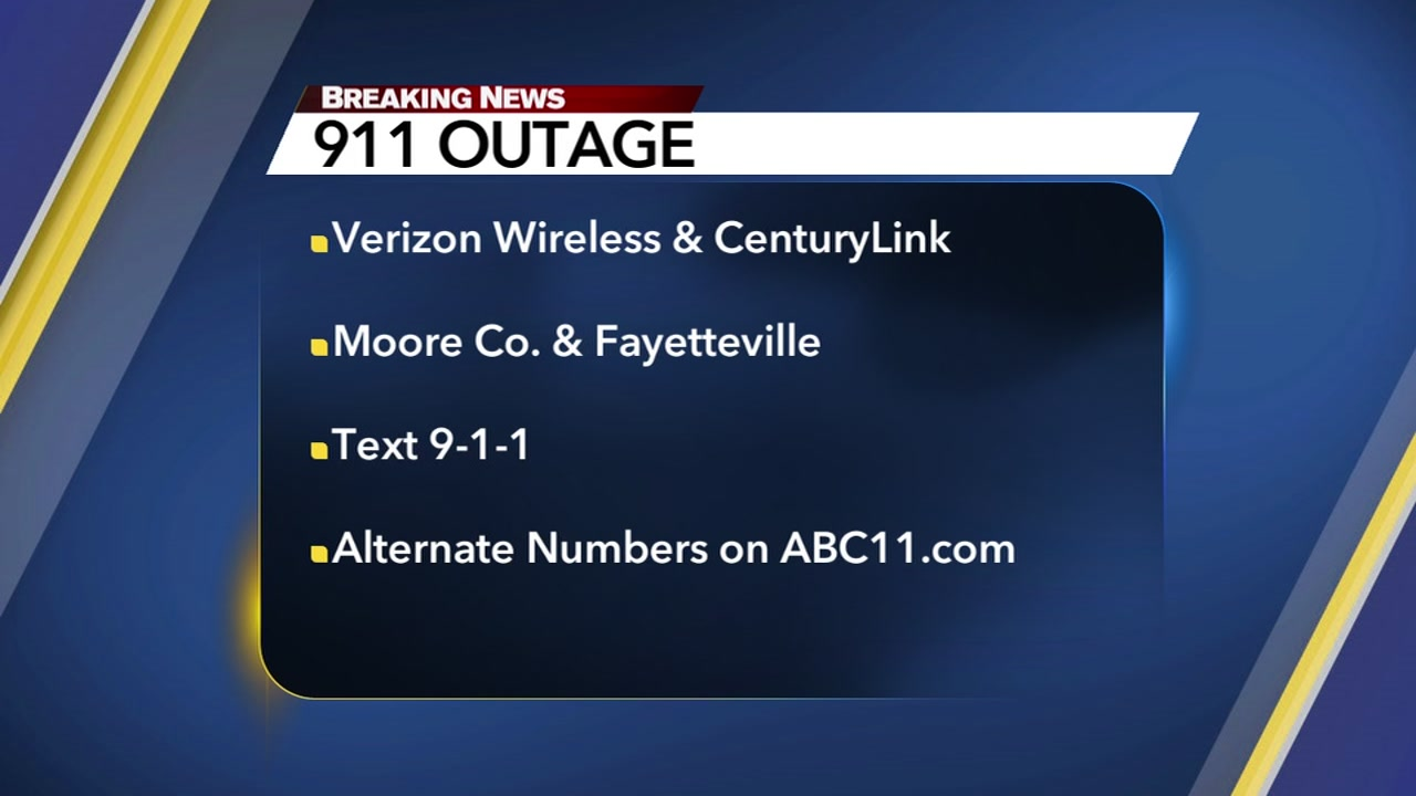 Verizon customers in Fayetteville and Moore County need to use alternate numbers when trying to reach the Fayetteville 911 Center.