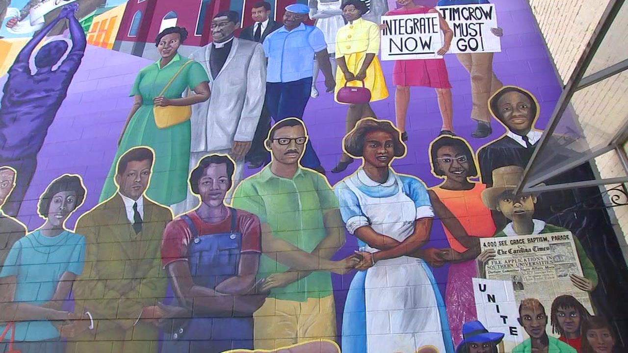 When you walk past 120 Morris Street in Durham, youll see a massive mural that depicts key events and people involved in the civil rights movement.