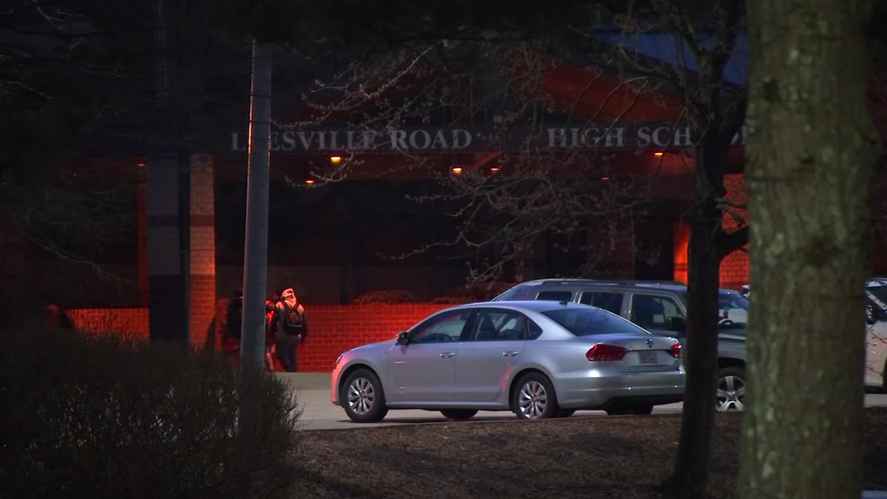 Extra security met students at Leesville Road High School on Tuesday morning after someone wrote a threatening message on a bathroom wall.